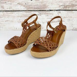 Ralph Lauren Espadrille Basket Weave Heeled Sandal